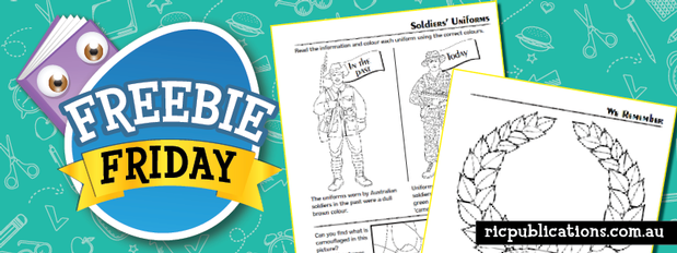 Freebie Friday: Anzac Day activities